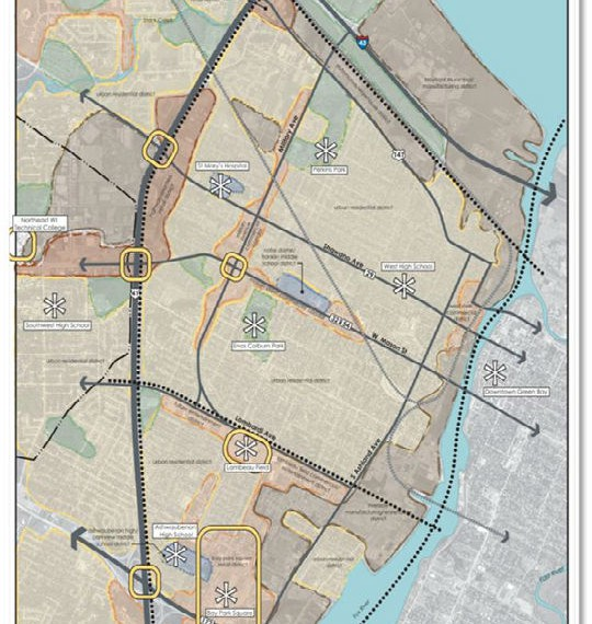 Map of Military Avenue plan