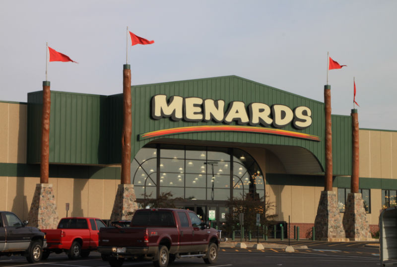 Front of Menards building