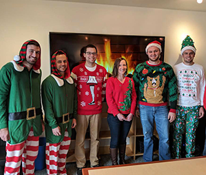 Holiday celebrations at the Vierbicher office