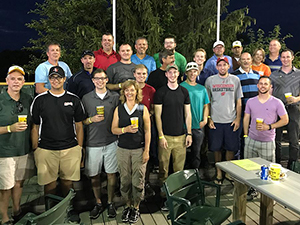 Vierbicher employees at a Madison Mallards game